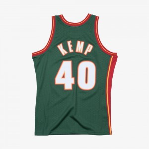 Shawn Kemp 1995-96 Swingman Hardwood Classics Road Seattle Supersonics